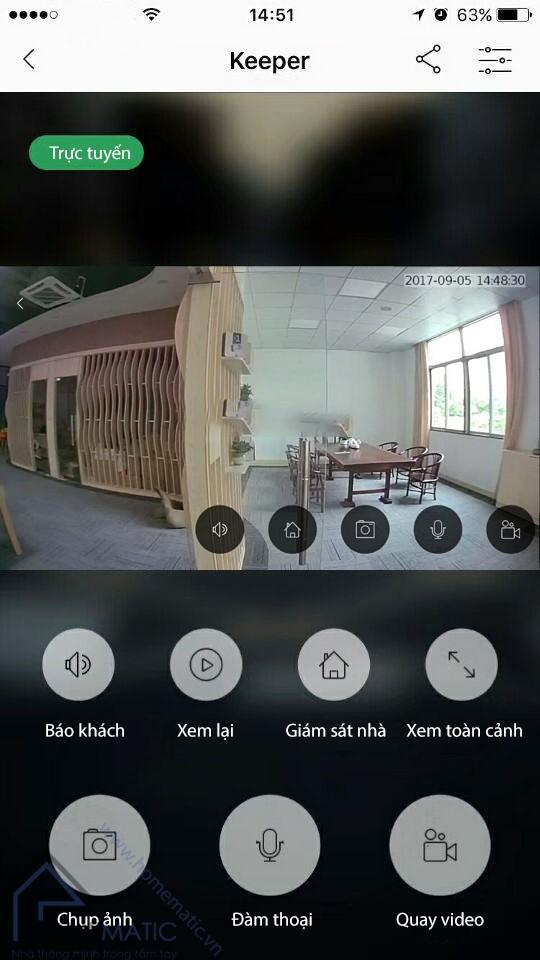 Chuông cửa có hình kết nối với điện thoại thông minh TOSEE TSE68
