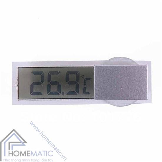 Đồng hồ đo nhiệt độ gắn kính siêu mỏng K-036 (Quà tặng không bán)