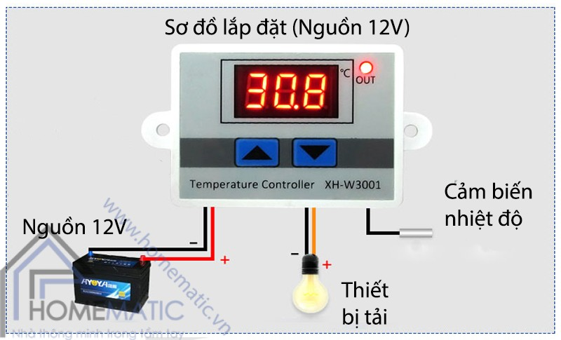 XHW3001 lap dat (nguon 12V)