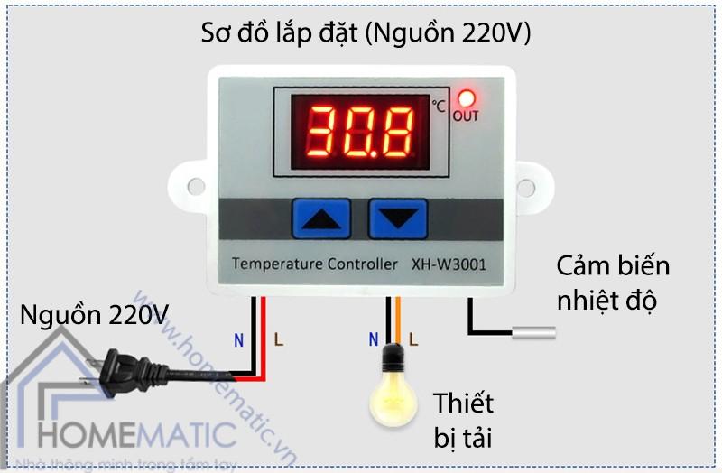 XHW3001 lap dat (nguon 220V)
