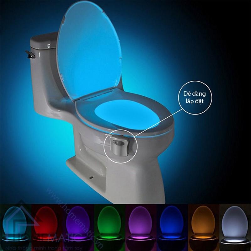 Đèn LED cảm ứng chuyển động, nhiều màu sắc phát sáng bồn cầu LB8 de dang lap dat