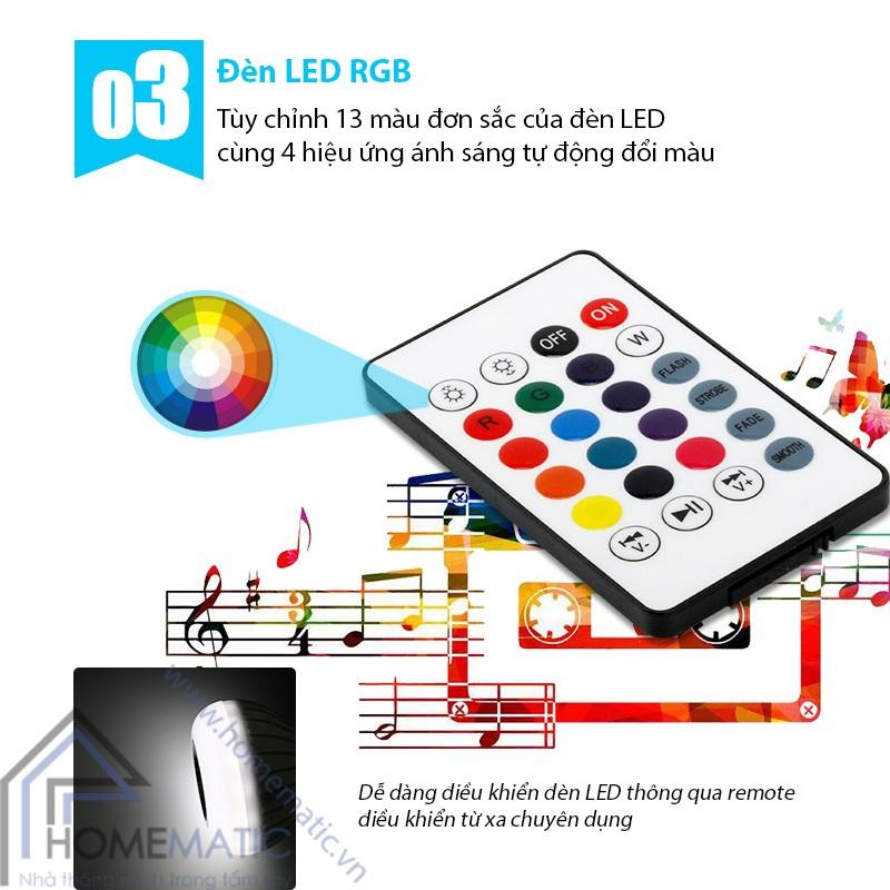 bong den + loa bluetooth den LED RGB