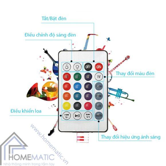 bong den + loa bluetooth remote