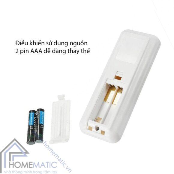 cong tac quat tran hm remote su dung pin AAA