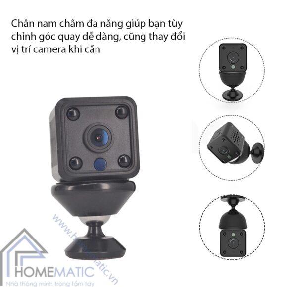 Camera wifi tuya mini HM-WJ01 chan xoay nam cham