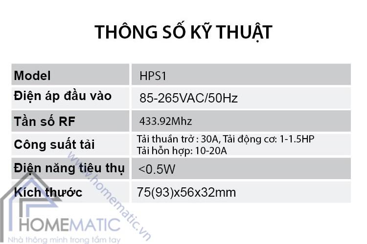 HPS1-thongso