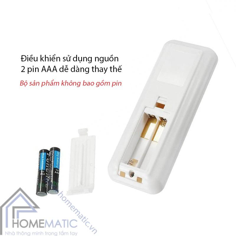 CT dieu khien quat tran WiFi HM-MPW remote su dung pin AAA