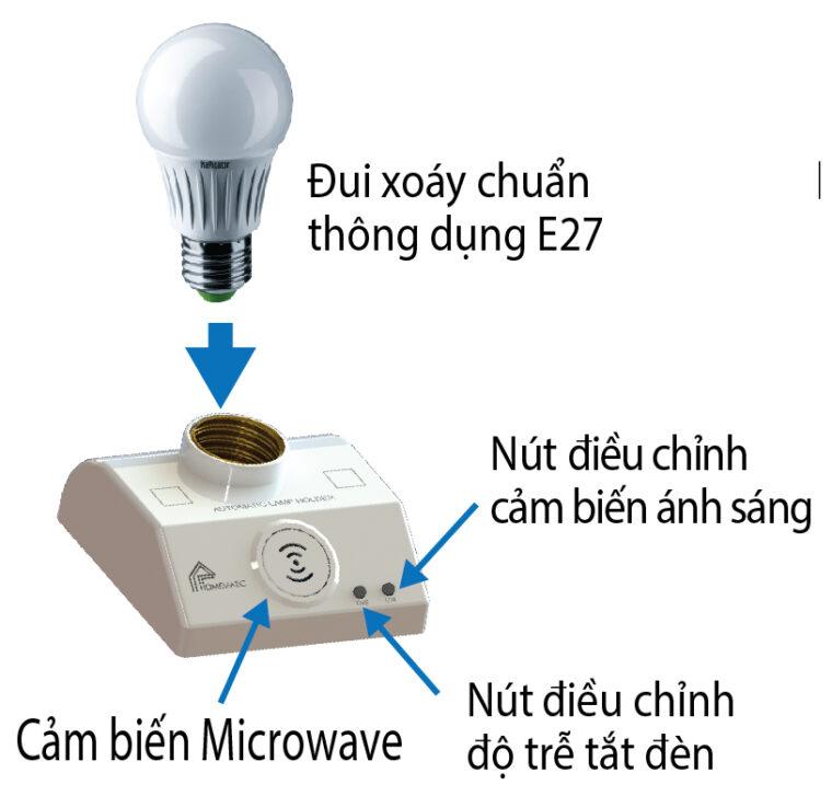 Chức năng đúi đèn cảm biến chuyển động ALH200