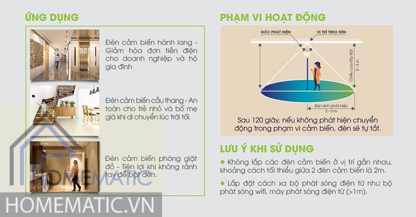 Đèn LED ốp trần cảm biển chuyển động - ánh sáng Rạng Đông