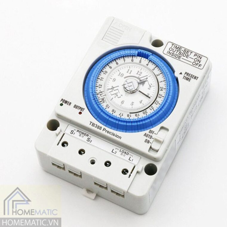 Công tắc hẹn giờ cơ bật tắt công suất lớn 16A TB388 Precision