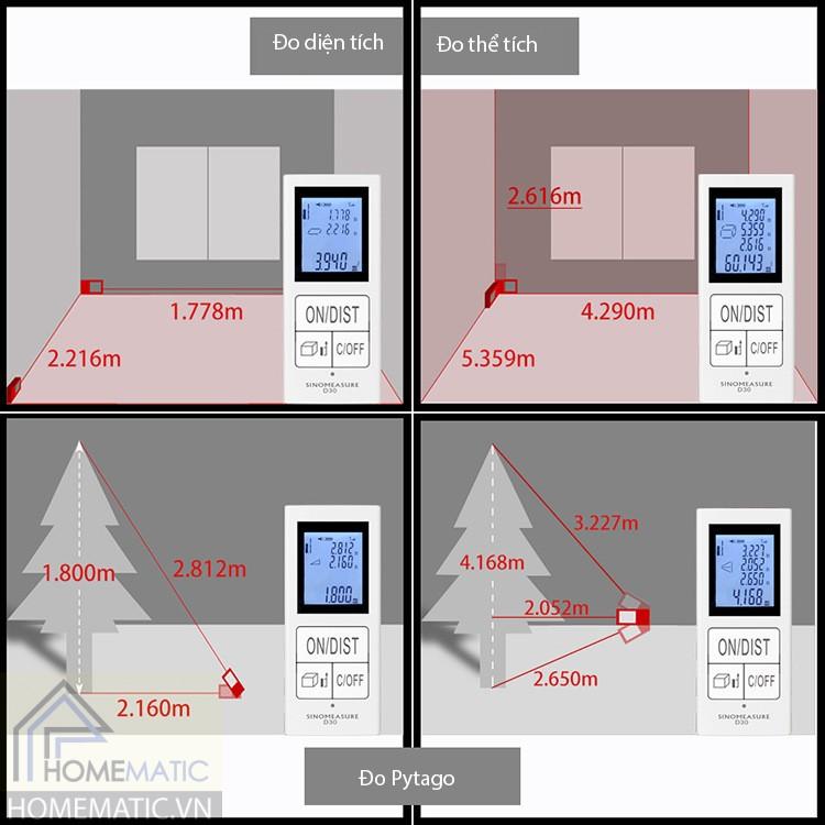Thước đo laser cầm tay pin sạc D30