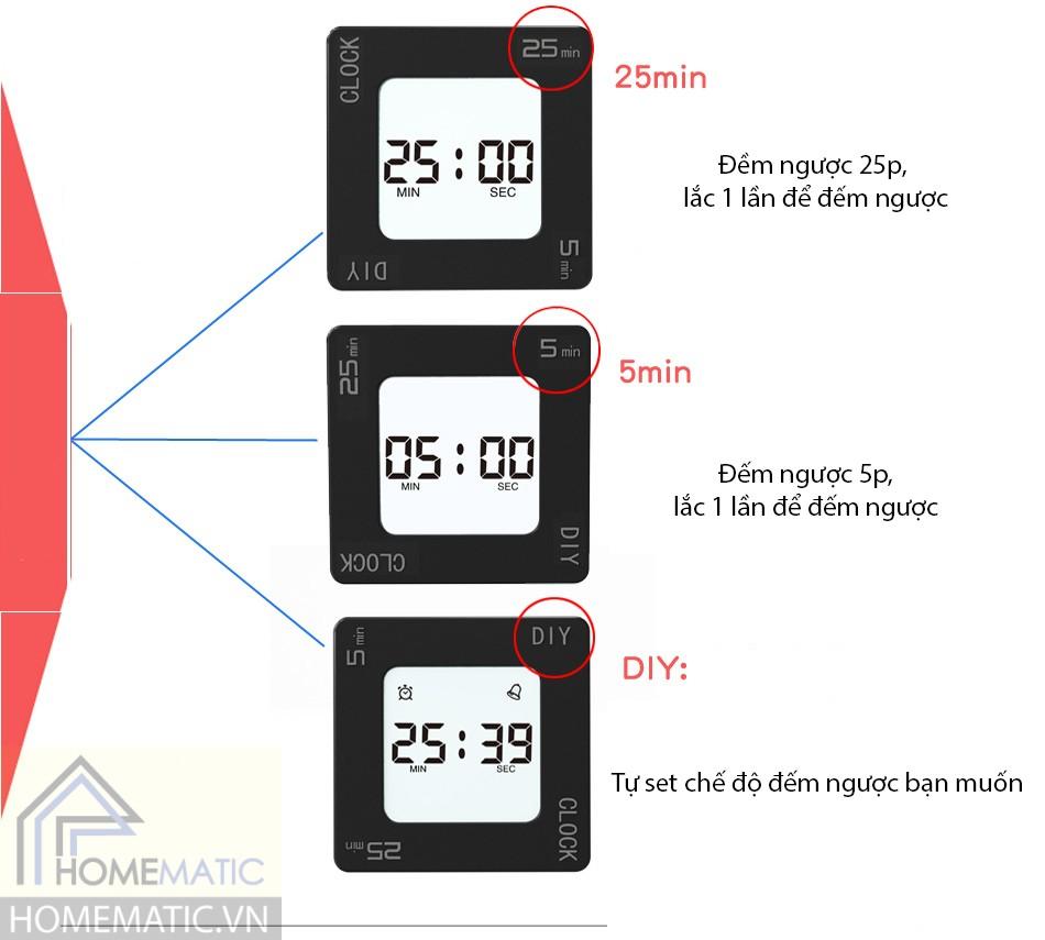 Đồng hồ đa chức năng hẹn giờ đếm ngược