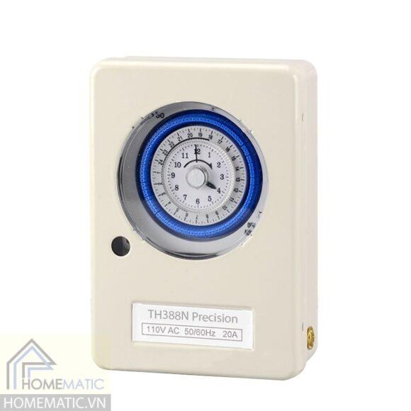 Hộp công tắc hẹn giờ cơ bật tắt công suất lớn TB388N Precision