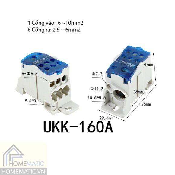 Cầu đấu chia nhỏ dây điện chịu tải lớn 160A-400A UKK