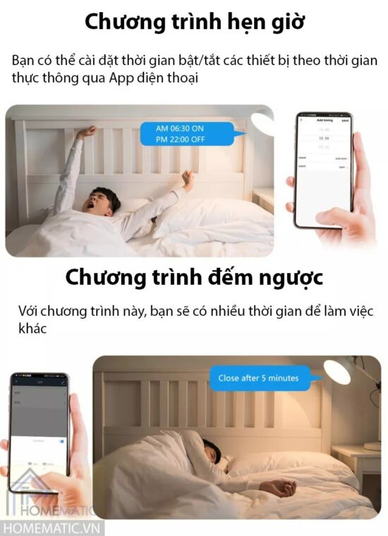 Công tắc Wifi mặt kính hỗ trợ remote thế hệ mới Tuya HM21