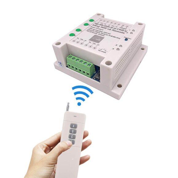 Hộp điều khiển từ xa 4 thiết bị bằng wifi và remote HTC4W-R