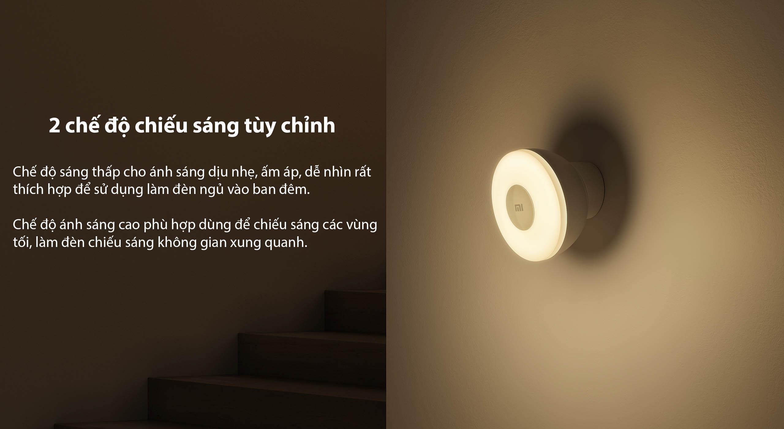 2 chế độ chiếu sáng tùy chỉnh