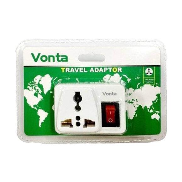 ổ cắm chuyển đôi đa năng có công tắc nguồn Vonta VDVN-T1
