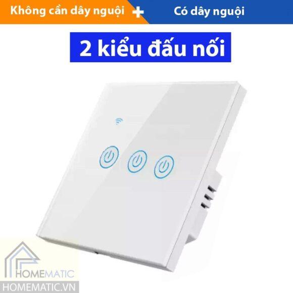 Công tắc wifi măt kính vuông hỗ trợ remote thế hệ mới TUYA HM31