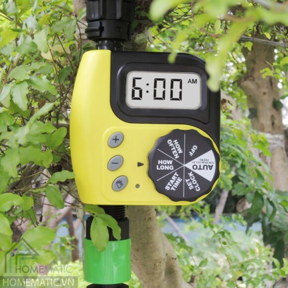 Van đồng hồ điện tử hẹn giờ tưới nước cho cây Greenmatic GM6605